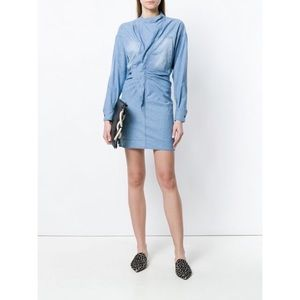 [Isabel Marant Etoile] Denim Ruched Dress